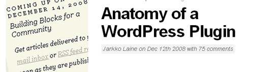 Anatomy of a WordPress Plugin