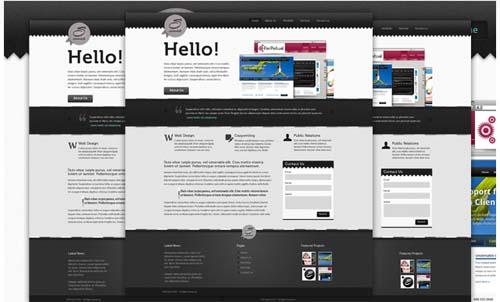 Sennick: Portfolio Website PSD