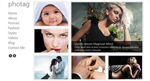 Photag - Photography PSD Web Template