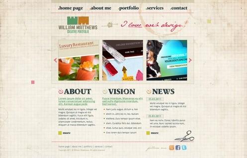 HTML/CSS/PSD Template