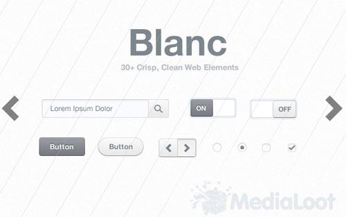 Blanc Web Elements
