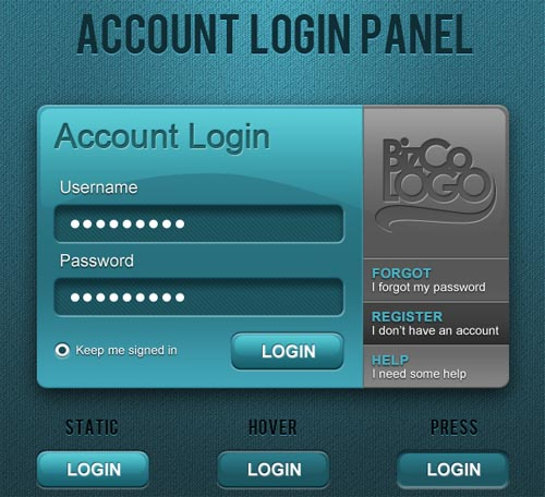Account Login Panel