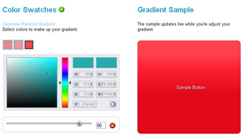 CSS3 Gradient Generator by Damian Galarza