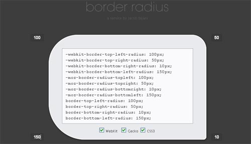 Only border-radius.