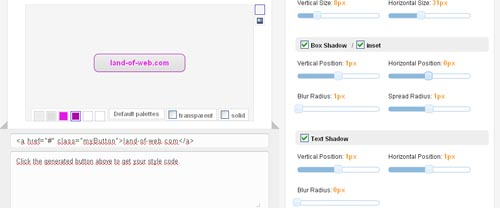 Free online CSS3 typeset style generator