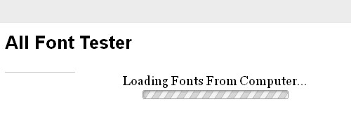 All Font Tester