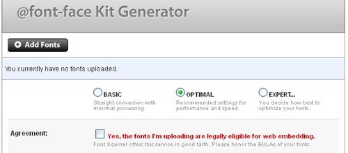 font-face kit generator
