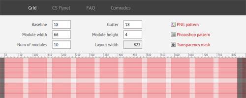 Modular grid pattern