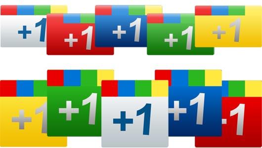 Google +1 icons