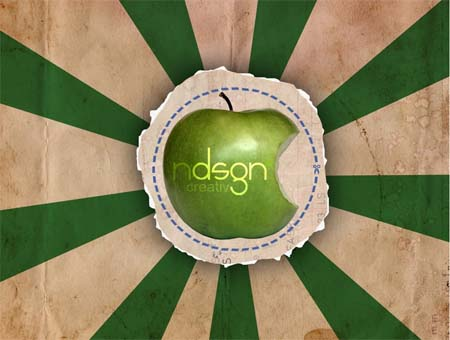 Green retro Apple