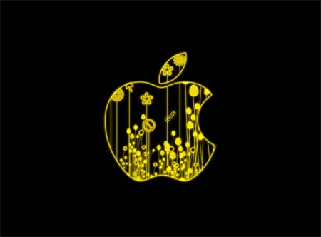 Stylish yellow apple
