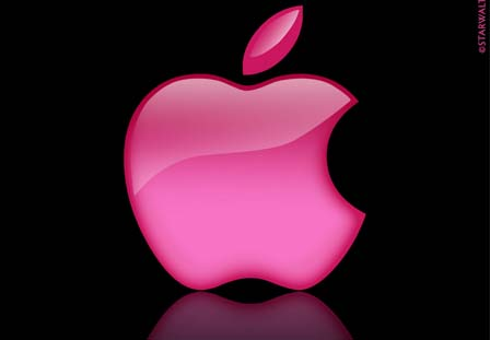 Pink Apple Logo