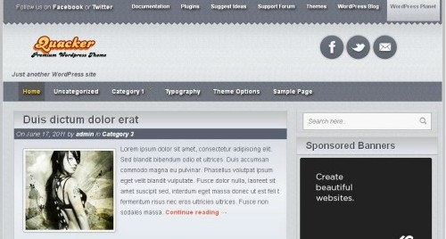 Html5 WordPress Theme – Quacker