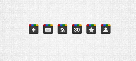 32px google icons inspired by the google+ favicon