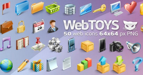 50 WebToys Icons