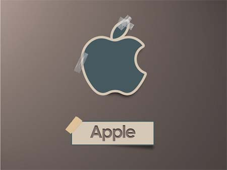 Paper note Apple
