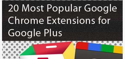 20 Most Popular Google Chrome Extensions for Google Plus