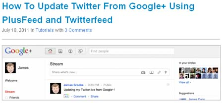 How To Update Twitter From Google+ Using PlusFeed and Twitterfeed