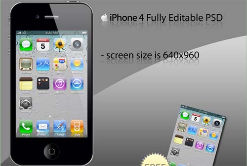 iPhone 4 Black with 4 Screens