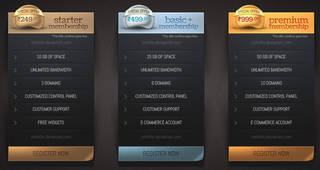 Price Table Set V2 PSD