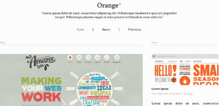 Orange Blog Template