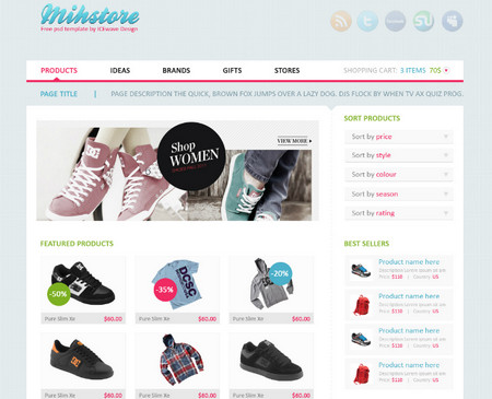 Mihstore - shop template