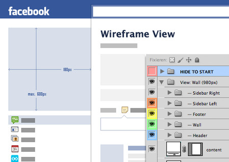 Facebook Fan Page GUI PSD