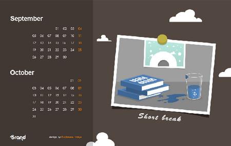 Wallpaper Calendar of September - October