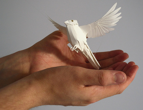 Small paper bird