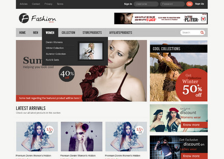 """Fashion Store"" eCommerce Layout"