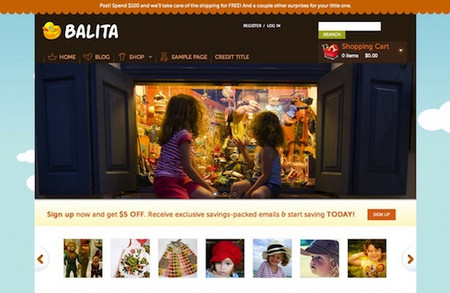 E-Commerce WordPress Theme: Balita