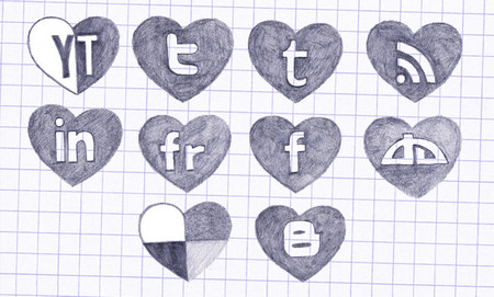 Freehand Social Network Icons