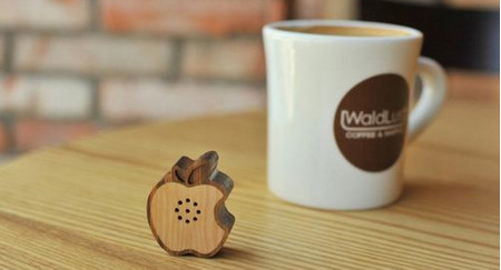 Tiny Wooden Apple Speaker