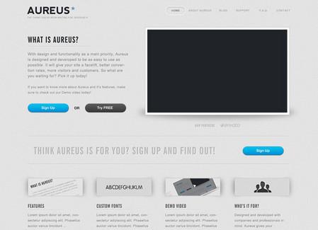 Aureus Landing Page