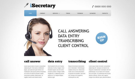 iSecretary website design