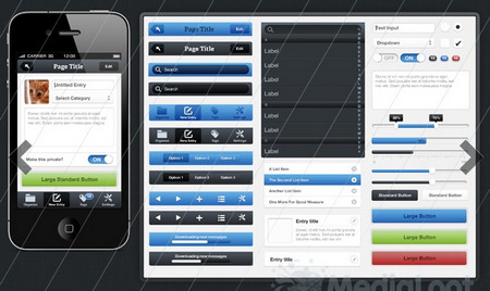 iPhone UI Kit