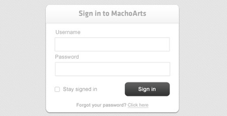 Clean Log in Form