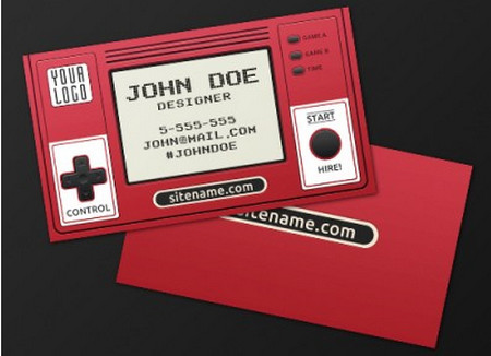Retro Gaming Business Card
