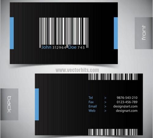 Vector material Elegant business card 04