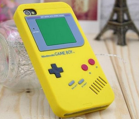 yellow iphone 4 gameboy case