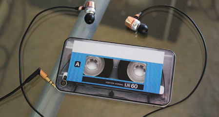 Blue Cassette Decal