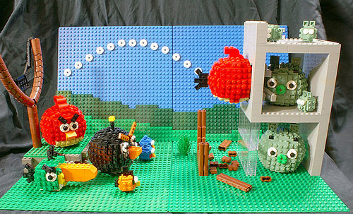Angry Birds Imagined With Angry Lego Bricks
