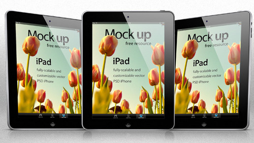 iPad Psd Vector Mockup Template