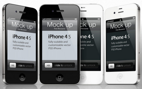 iphone 4s Psd Vector