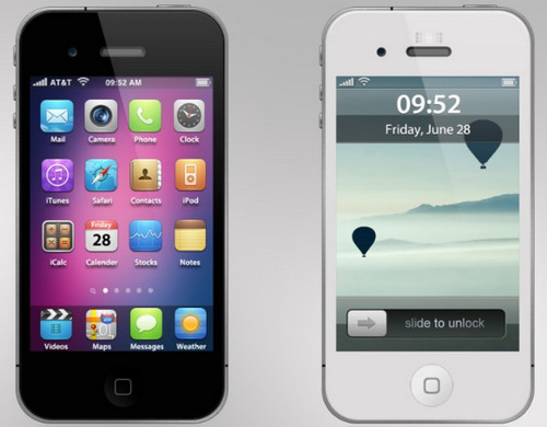 Apple iPhone 4 PSD + PNG + ICO
