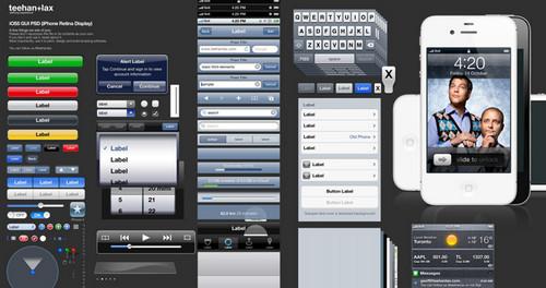 iOS 5 GUI PSD (iPhone 4S)