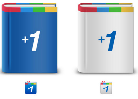 Book-Themed Google +1 Icon Set