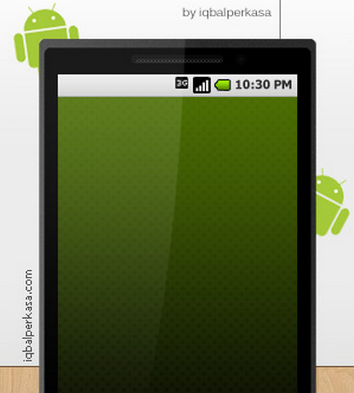 Android Phone PSD