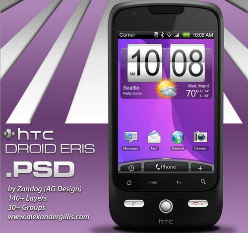 HTC Eris Smartphone .PSD