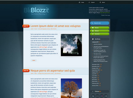 BlozZit – Free Professional HTML/CSS Template (+Full-Layered PSD Files)